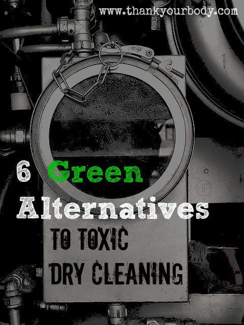 Green Dry Cleaning Alternatives - Good to know for toxic-free living.