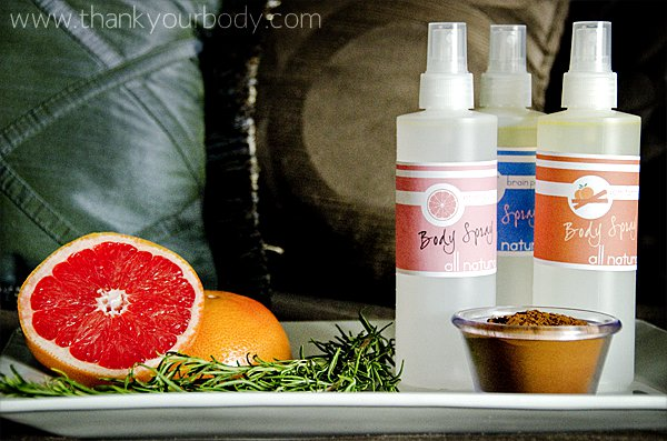 All natural body spray recipe. Can you say homemade gift?